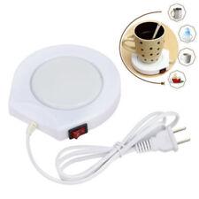 220v White Electric Powered Cup Warmer Pad Coffee Tea Milk Mug US Plug