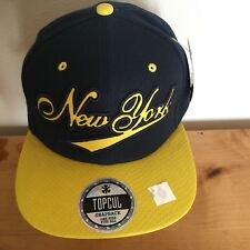 NEW YORK BASEBALL CAP  SNAP BACK TOP CUL SNAKE SKIN LOOK NY Yankees Mets team