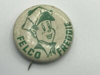 "RARE Vintage 1-1/8"" FELCO FREDDIE Advertising Pin Pinback Buttons Farm B4"