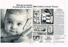Publicité Advertising 1970 (2 pages) Puériculture Table à langer Bébé-Confort