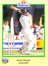 BUTTERCUP 1995 MARK WAUGH Bat AUSTRALIA ACB Australian Cricket Card