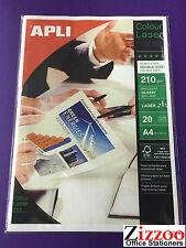 50 x A4 BIADESIVO Carta fotografica per laser / fotocopiatrici - 210gsm + Gratis P&P!