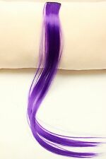 """4PCS 20"""" Purple Straight CLIP IN Human Hair Extensions Color Synthetic Hair clip"""