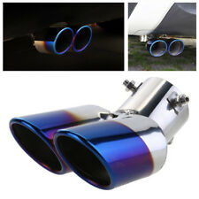 Stainless Steel Car Rear Tail Exhaust Muffler Tip Dual Exhaust Tail Throat Blue