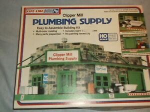 NEW LIFE-LIKE CLIPPER MILL PLUMBING SUPPLY BUILDING #1357 NIB HO SCALE