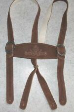 >>> sehr schöne braune Leder- HOSENTRÄGER zur Trachten- LEDERHOSE / Trachtenhose