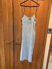 Motel Rocks Baby Blue Calf Length Dress Size Small New