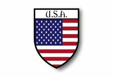Stickers decal souvenir vinyl car shield flag world crest usa united states