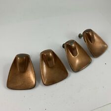 Set Of 4 Vintage Copper Finish Knob Or Drawer Pulls Includes Hardware