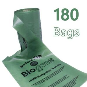 Biodegradable Dog Bag Pet Puppy Poop Clean Up | 180 Biogone Poo Waste Bags