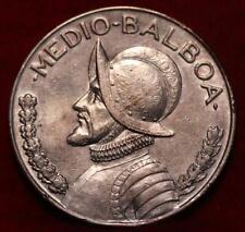 1930 Panama 1/2 Balboa Silver Foreign Coin
