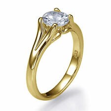 Shiree Odiz Solitaire Not Enhanced Yellow Gold Fine Rings