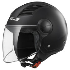 Casco Ls2 Jet Of562 Airflow L Solid Nero Matto S termoplastica