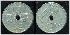 BELGIQUE 5 centimes 1942  ( belgie belgique)    ( bis )