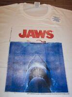 VINTAGE STYLE JAWS Movie T-Shirt XL Shark NEW