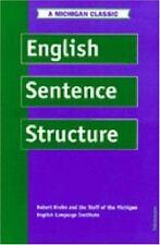 English Sentence Structure (Intensive Course in English), Robert Krohn, Good Boo