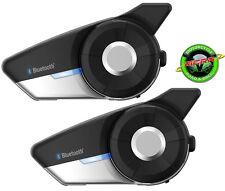 Sena 20S EVO Motorcycle Bluetooth Intercom Dual Pack UK Stock & Warranty