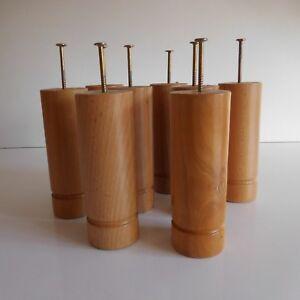 8 Feet Of Bed Wood Vis Metal Upholstery Design 20th Vintage France N3535