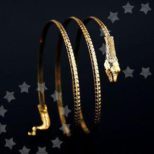 Gold Schlange Oberarmband Armreif Bracelet Schmuck Oberarmreif