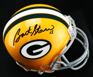 Bart Starr Signed Autographed Mini Helmet Green Bay Packers Steiner