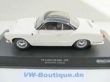 + VOLKSWAGEN VW Karmann Ghia Coupe 1:18 Minichamps 1970 weiss-schwarz 155054021