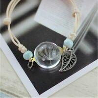Fashion Women Lucky Flower Bracelet Hand Dried Glass Bangle Jewelry