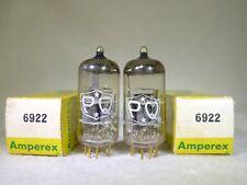 NOS/NIB Matched Pair Amperex PQ 6922/E88CC O-Getter USA Gold Pin 1963 NEW