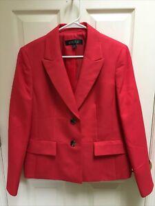 Kasper Women's Coral Suit Jacket Blazer Size 12