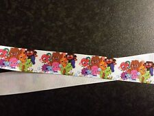 "2m Moshi Monsters de grogrén Impreso Cinta 7/8 "" 22mm, Pastel Arcos Partido Craft"