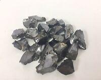 1 Elite Shungite Specimen Silver Noble Shungite Rough Stone Crystal Reiki.