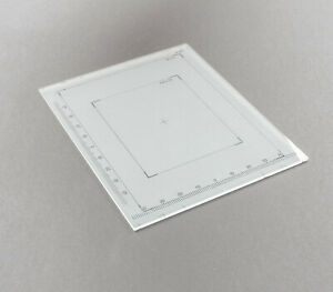 Linhof Focussing Screen 4x5 9x12 für Technika, Kardan, Technikardan mit Linealen