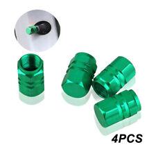 4PCS Green Aluminum Tire Wheel Rims Stem Air Valve Caps Tyre Cover Car Caps