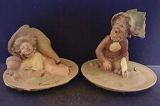 Tom Clark 1984 Gnome Collette & Anaheim Set of 2 Vintage Figurine Retired