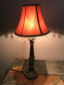 Small Table LAMP with Beaded Shade