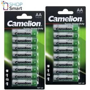 16 CAMELION AA BATTERIES SUPER HEAVY DUTY LONG LIFE R6P UM3 1.5V 8BL 2023 NEW