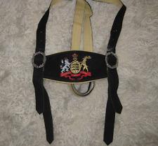 Württemberg Trachten Hosenträger H Stegträger schwarz mit Wappen Pulsz selten