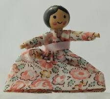 Vtg Miniature Dollhouse Artisan Mini Toy Doll Handmade Primitive Folk Handpaint