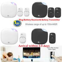 1byone Plug/Battery Operating Wireless Waterpoof Door Bell Doorbell Easy Chime