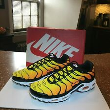more photos d50b0 0438e Nike Air Max Plus TXT TN 2014 Sunset Retro Tour Yellow Shoes size 11 647315-