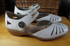 Remonte Womens 39 US 8.5 M Doris Sandal White Comfort Walking