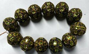 1 PC Handmade Designer 925 Silver Victorian Tanzanite Diamond Beads
