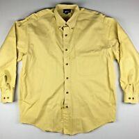 Woods & Gray Mens Yellow Long Sleeve Button Down Shirt Medium