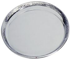 Pewter Plate Salver Presentation Plate with Celtic Band 10cm Engravable