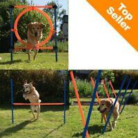 Complete Dog Agility Course 3 Agility Equipments Bundle Hurdle Slalom Hoop Play