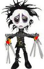 20 water slide nail art transfers Halloween Edward scissor hand