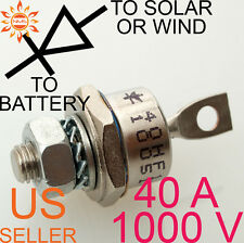 40A 1000V BLOCKING DIODE WIND GENERATOR SOLAR PANEL 40 AMP PANELS TURBINE STUD A