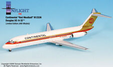 InFlight200 Continental Airlines Douglas DC-9 Red Meatballs 1:200 Scale N12536