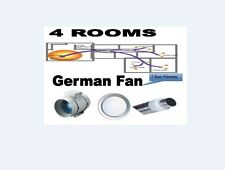 WOOD GAS HEATER AIR TRANSFER KIT + EXHAUST VENTILATION GERMAN FAN HEATING 4 ROOM