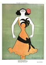 Publicité ancienne dessin de Cappiello 1981 Polaire à la scala issue du livre