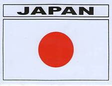 AUTOCOLLANT STICKER DRAPEAU JAPON JAPAN DIMENSIONS 13 X 10 CM